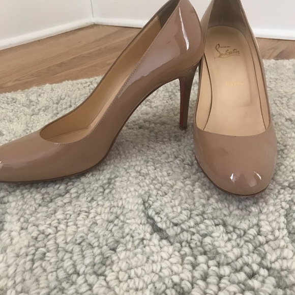 0f1f148f370 Christian Louboutin Shoes - Christian Louboutin nude 4 inch pumps